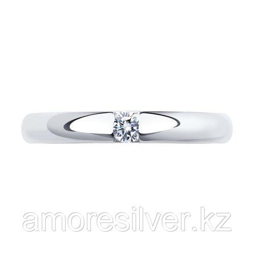 Кольцо SOKOLOV серебро с родием, фианит 94011254 размеры - 15 15,5 16 16,5 17 17,5 - фото 2