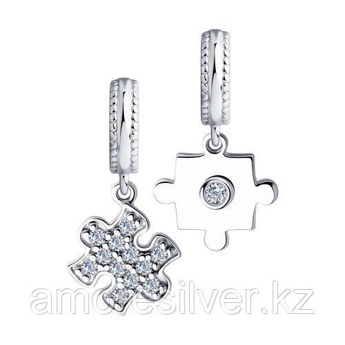 Подвеска SOKOLOV серебро с родием, фианит  94032469