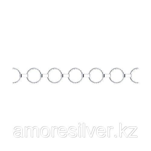 Браслет SOKOLOV серебро с родием, без вставок 94050131 размеры - 17 18