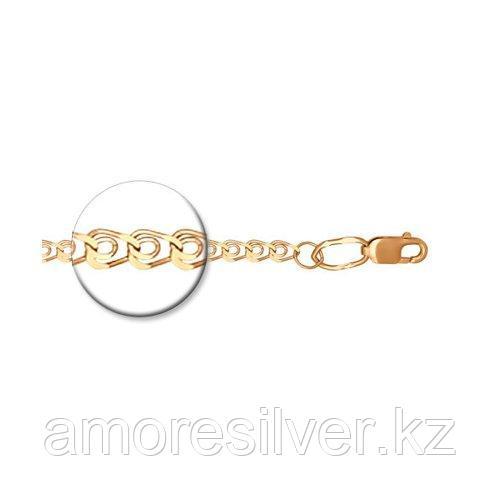 Браслет SOKOLOV серебро с позолотой, без вставок, лав 985080402 размеры - 18