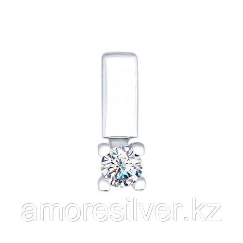 Подвеска SOKOLOV серебро с родием, фианит swarovski  89030017