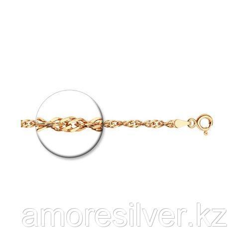 Браслет SOKOLOV серебро с позолотой, без вставок, сингапур 985090502 размеры - 16 18
