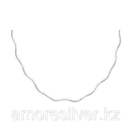 Колье SOKOLOV серебро с родием, без вставок 94074508 размеры - 50
