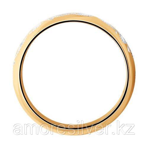 Обручальное Кольцо SOKOLOV серебро с позолотой, без вставок 93110016 размеры - 17 17,5 18 18,5 19 20 20,5 - фото 2