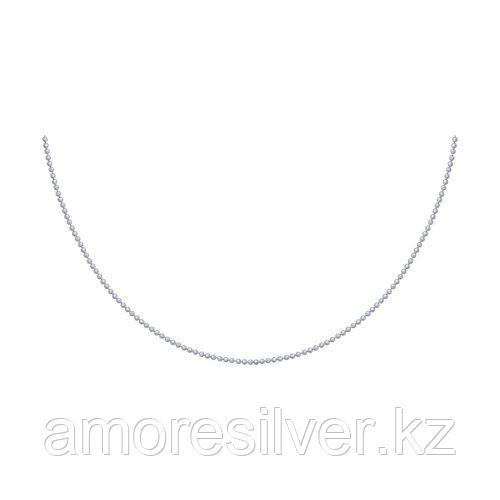 Колье SOKOLOV серебро с родием, без вставок 94074509 размеры - 40