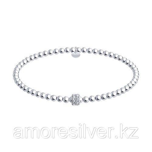 Браслет SOKOLOV серебро с родием, фианит  94054707