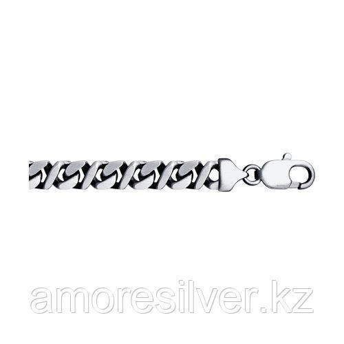 Браслет SOKOLOV серебро с родием, без вставок 94054705 размеры - 18 19 20 21 22 23