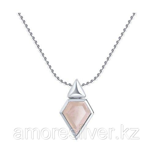 Колье SOKOLOV серебро с родием, кварц, геометрия 92070050 размеры - 40 45