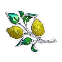 Брошь SOKOLOV серебро с родием, эмаль, флора 94-140-00540-1