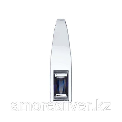 Подвеска DIAMANT ( SOKOLOV ) серебро с родием, корунд синт. 94-330-00772-1