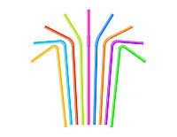 Трубочки с изгибом, цветные, d- 5 мм, 240мм (250 шт/уп)