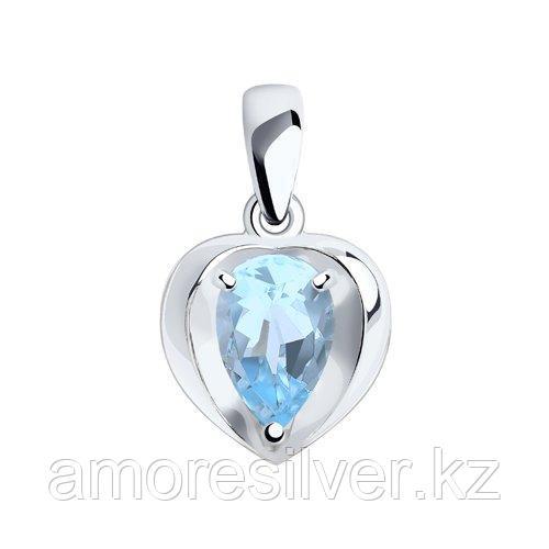 Подвеска DIAMANT ( SOKOLOV ) серебро с родием, топаз 94-330-00761-1