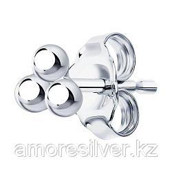 Серьги SOKOLOV серебро с родием, без вставок, флора 94170129