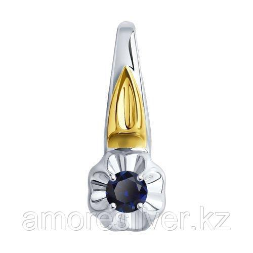 Подвеска DIAMANT ( SOKOLOV ) серебро с родием, корунд синт., флора 94-330-00976-1