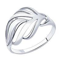 Кольцо SOKOLOV серебро с родием, фианит 94-110-00872-1 размеры - 16 16,5 17,5 18 18,5 19,5