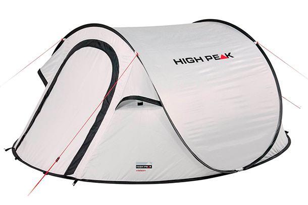 Палатка HIGH PEAK Мод. VISION 2 (2-x местн.)(235x140x100см) (жемчужный), R89020