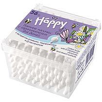 Ватные палочки Bella Happy с ограничителем 56 штук в упаковке