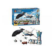 Конструктор Воздушная полиция: авиабаза, LARI 11210 аналог LEGO City 60210
