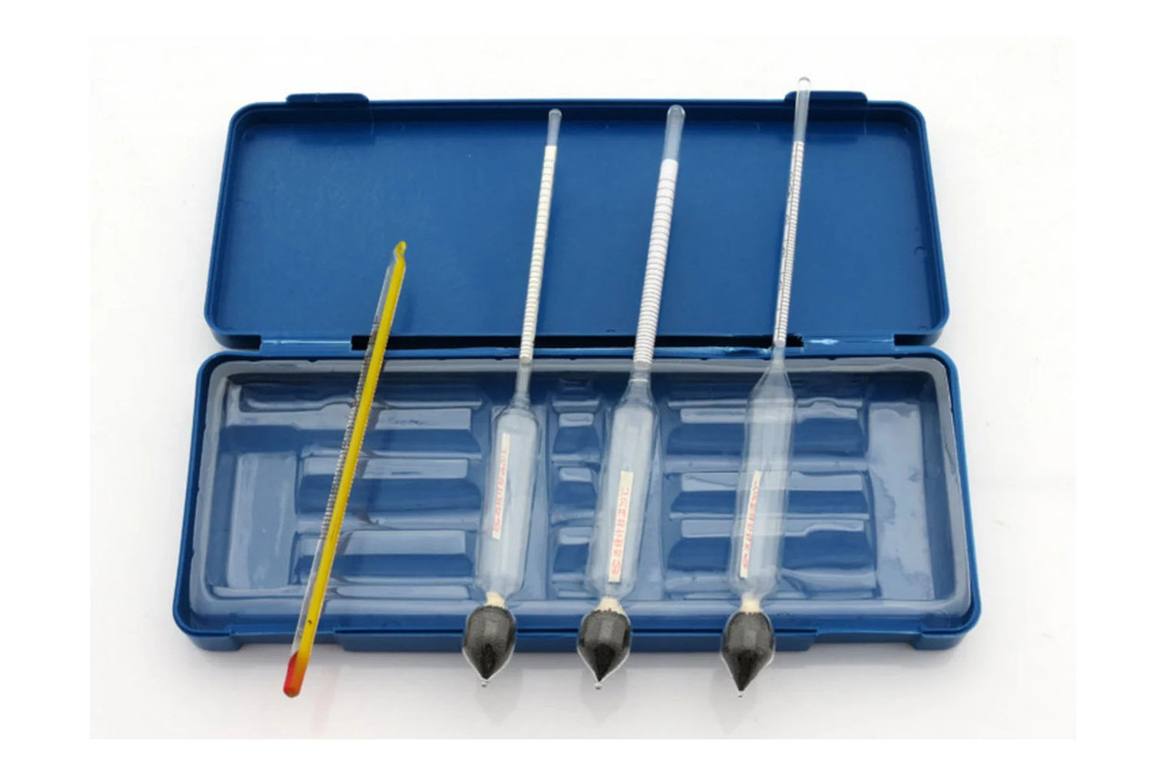 Набор ареометров и термометра спиртового