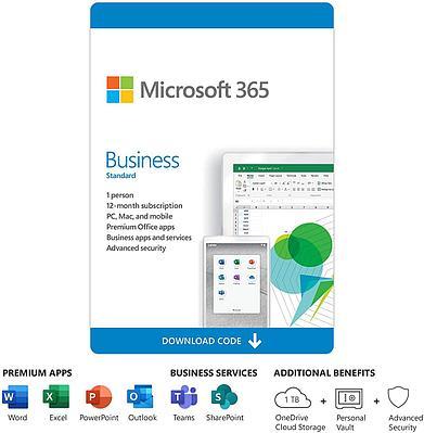Microsoft (Office) 365 Business Standard  ( KLQ-00217, подписка на 1 год )