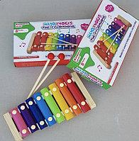 Ксилофон детский деревянный в упаковке.