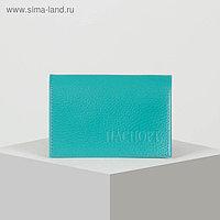 Обложка для паспорта, цвет бирюзовый