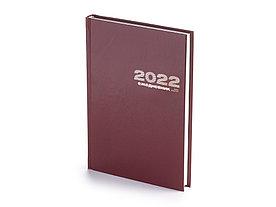 Ежедневник А5 датированный Бумвинил 2022, бордовый