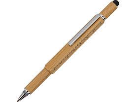 Ручка-стилус из бамбука Tool с уровнем и отверткой