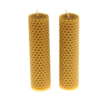 Набор свечей из вощины медовая 13 см, 2 шт