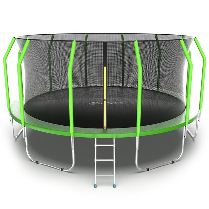 Батут EVO JUMP Cosmo, d=488 см, с внутренней защитной сеткой и лестницей, цвет зелёный - фото 1
