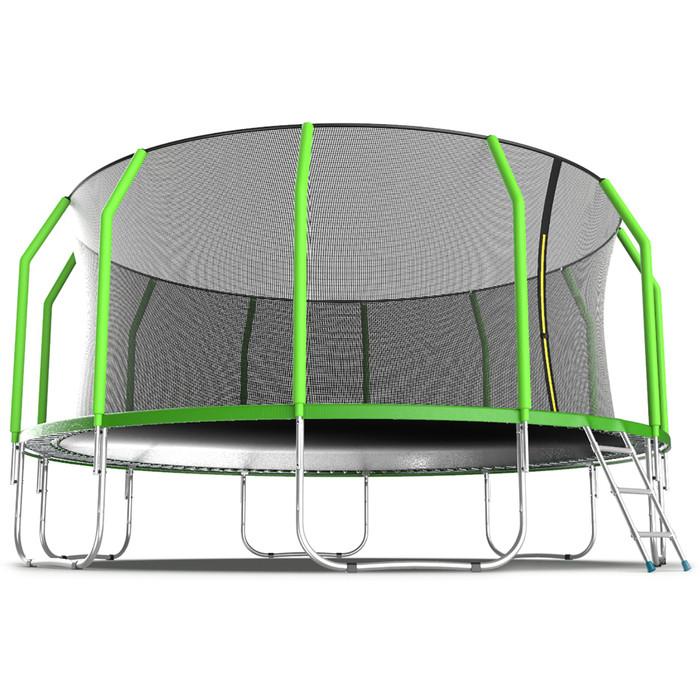 Батут EVO JUMP Cosmo, d=488 см, с внутренней защитной сеткой и лестницей, цвет зелёный - фото 3