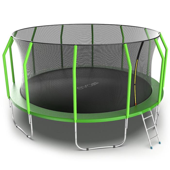 Батут EVO JUMP Cosmo, d=488 см, с внутренней защитной сеткой и лестницей, цвет зелёный - фото 5