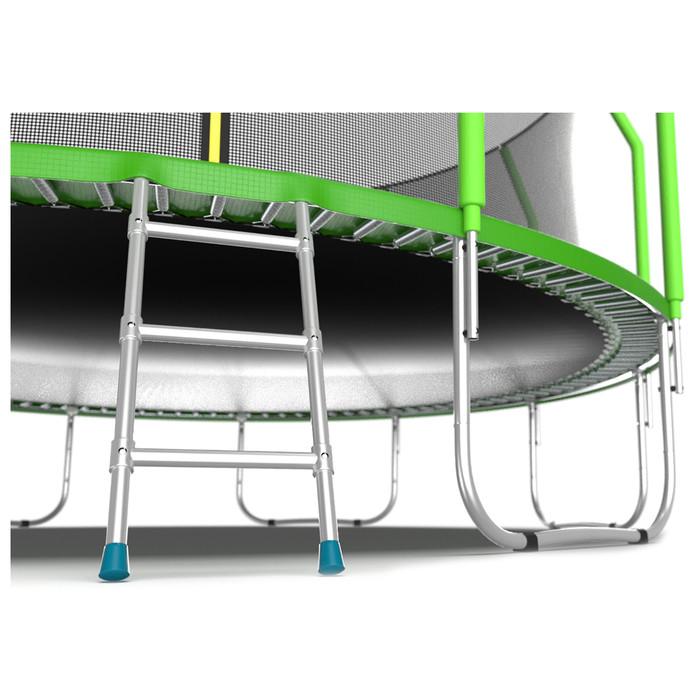 Батут EVO JUMP Cosmo, d=488 см, с внутренней защитной сеткой и лестницей, цвет зелёный - фото 6
