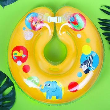 Круг детский на шею, для купания, «Африка» с погремушками, от 1 мес