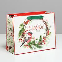 Пакет ламинированный горизонтальный «С Новым годом», MS 23 × 18 × 10 см