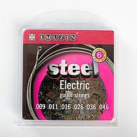 """Струны """"STEEL ELECTRIC"""" c обм. из ферромагнитного сплава с ник.покр. /.009 - .046/"""