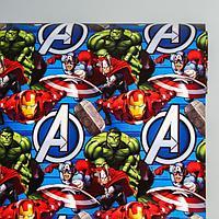 Бумага упаковочная глянцевая, Мстители, 60x90 см