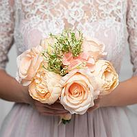 Букет-дублер «Счастье», розы и пионы