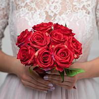 Букет-дублер «Счастье», красные розы, 9 цветков