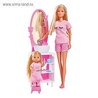 Куклы Время умываться «Штеффи и Еви», 29 см., 12 см