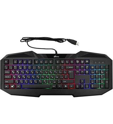 KeyBoard USB, Ritmix RKB-550  Gaming, backlight черная