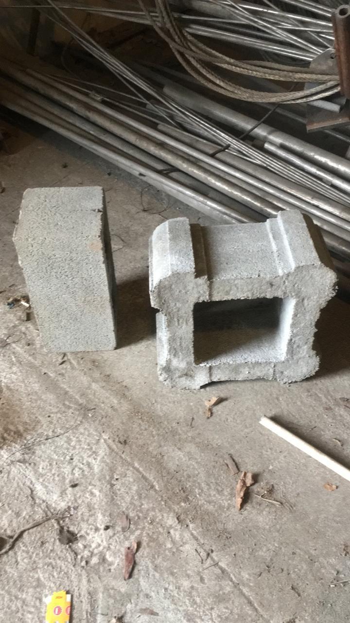 Блок - тумба 330х330х190 мм Гладкий Серый для колонны Бетонный блок столба