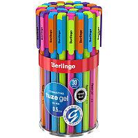 """Ручка гелевая Berlingo """"Fuze gel"""", 0,5мм, черная, корпус ассорти"""