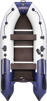 Надувная лодка Riviera Компакт 3400 СК Комби синий-белый