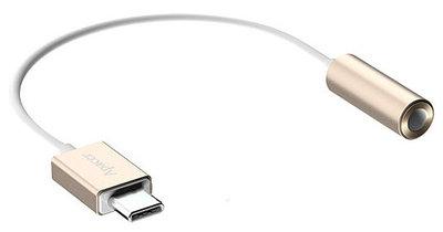 Аудиоконвертер, USB Type-C 3.1 m -> 3.5mm/f, Apacer DC150, APDC150С-1, USB 3.1, 0.10м, золотой