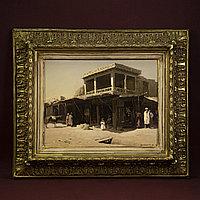 «Базар в Средней Азии.» 300 000т Холст, масло. очень красивая старинная рама.