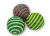 Игрушка для кошки, цветной шарик 4 см, 4 шт в тубе (1/60)