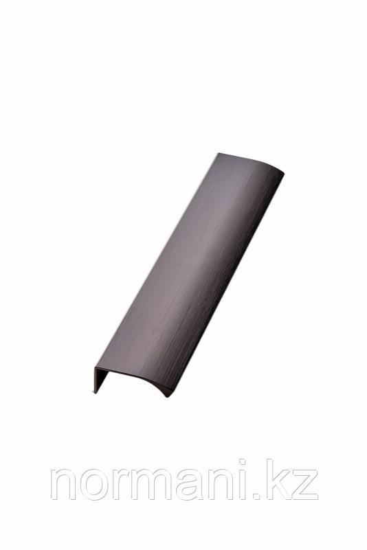 Мебельная ручка накладная EDGE STRAIGHT L.200мм, отделка бронза темная