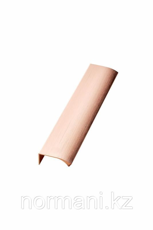 Мебельная ручка накладная EDGE STRAIGHT L.200мм, отделка розовое золото