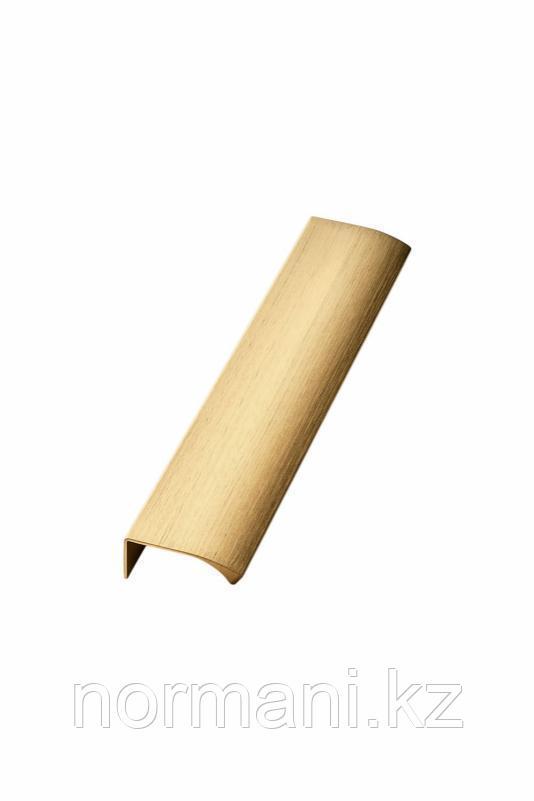Мебельная ручка накладная EDGE STRAIGHT L.200мм, отделка золото шлифованное